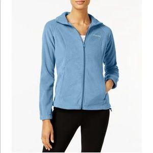 NWOT Columbia fleece zip up jacket blue small